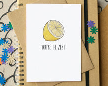 """You're The Zest"" Funny Valentine's Card"
