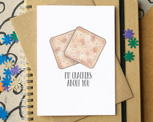 "Funny ""I'm Crackers About You"" Love Card"