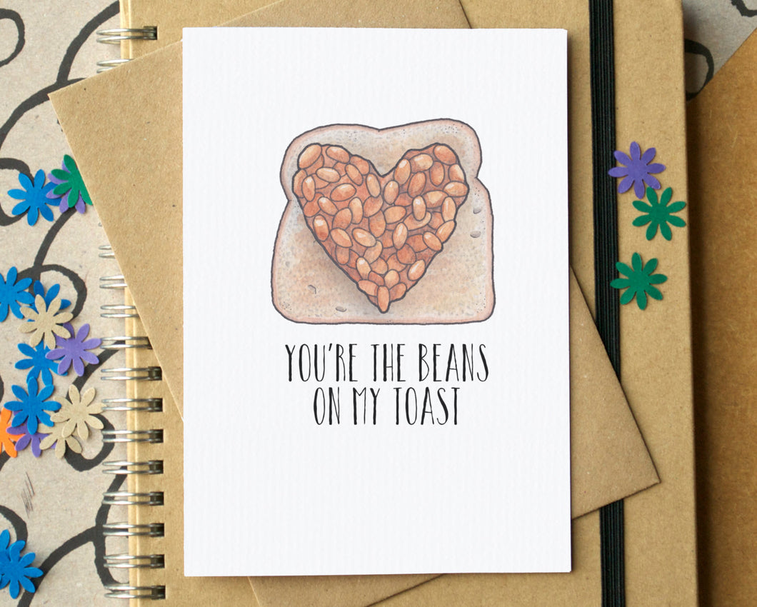 Beans on Toast Funny Love Card