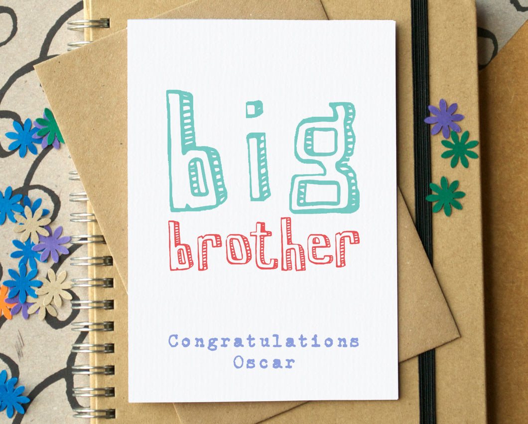 Big Brother Card - can be personalised