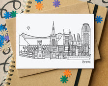 Bristol Skyline Landmarks Greetings Card