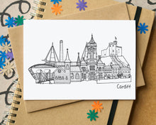 Cardiff Landmarks Skyline Greetings Card