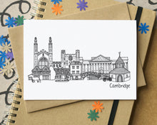 Cambridge Skyline Landmarks Greetings Card