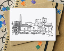Carlisle Skyline Landmarks Greetings Card