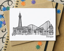 Blackpool Skyline Landmarks Greetings Card