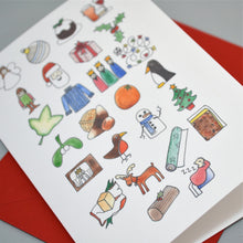 Christmas Alphabet Card