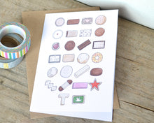 Biscuit Alphabet Greetings Card