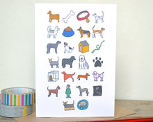 Dog Alphabet Greetings Card