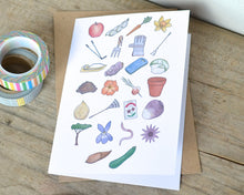 Gardening Alphabet Greetings Card