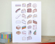 Cake Alphabet Greetings Card