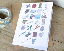 Sewing Alphabet Greetings Card