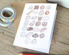 Bread Alphabet Greetings Card