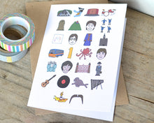 Beatles Alphabet Greetings Card