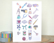 Arts & Crafts Alphabet Greetings Card