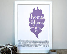 Home Is Where My Mum Is Print - can be personalised