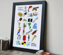 Pirate Alphabet Art Print