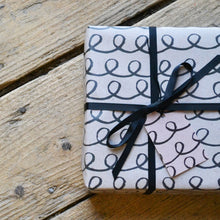 Black and Kraft Unisex Wrapping Paper