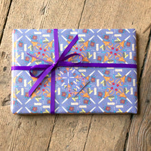 Purple Sewing Wrapping Paper