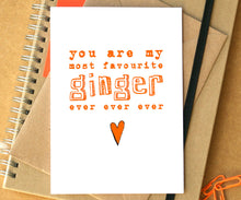 Funny Favourite Ginger Card