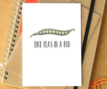 "Funny ""Like Peas In A Pod"" Friendship Card"