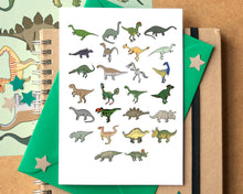 Dinosaur Alphabet Card