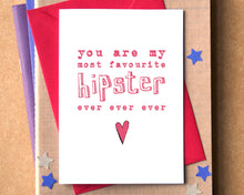 My Favourite Hipster Ever Card