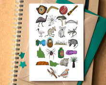 Australia Alphabet Greetings Card