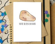"Funny ""You're The Best Bar Naan"" Thank You Card"