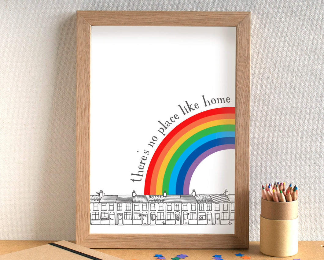 There's No Place Like Home Print - can be personalised