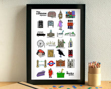 London Alphabet Art Print
