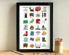 Great Britain Alphabet Print