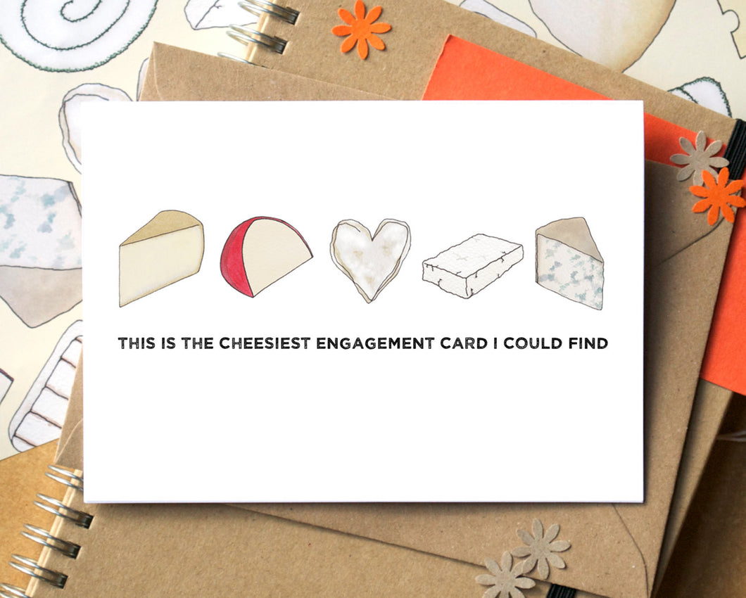 Funny Cheesy Engagement Card