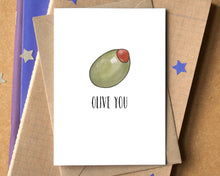 """Olive You"" Funny I Love You Card"