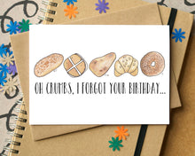 Funny Oh Crumbs Belated Birthday Card
