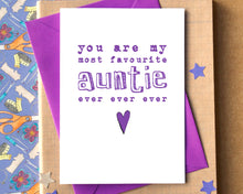 Favourite Auntie Ever Card