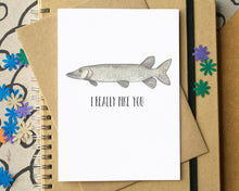 "Funny ""I Really Pike You"" Friendship Card"