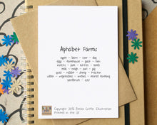 Farm Alphabet Card
