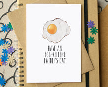 """Have An Egg-Cellent Father's Day"" Funny Card"