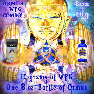 MONATOMIC GOLD ORMUS 8 oz BOTTLE + 10 grams White Powder Gold Extract COMBO! A+