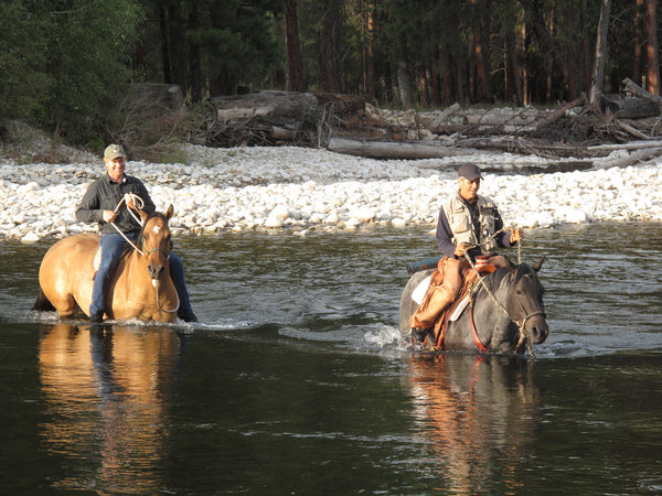 Fishing on horses
