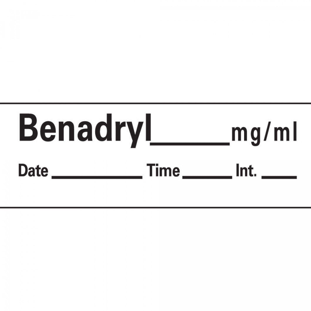 LABEL BENADRYL