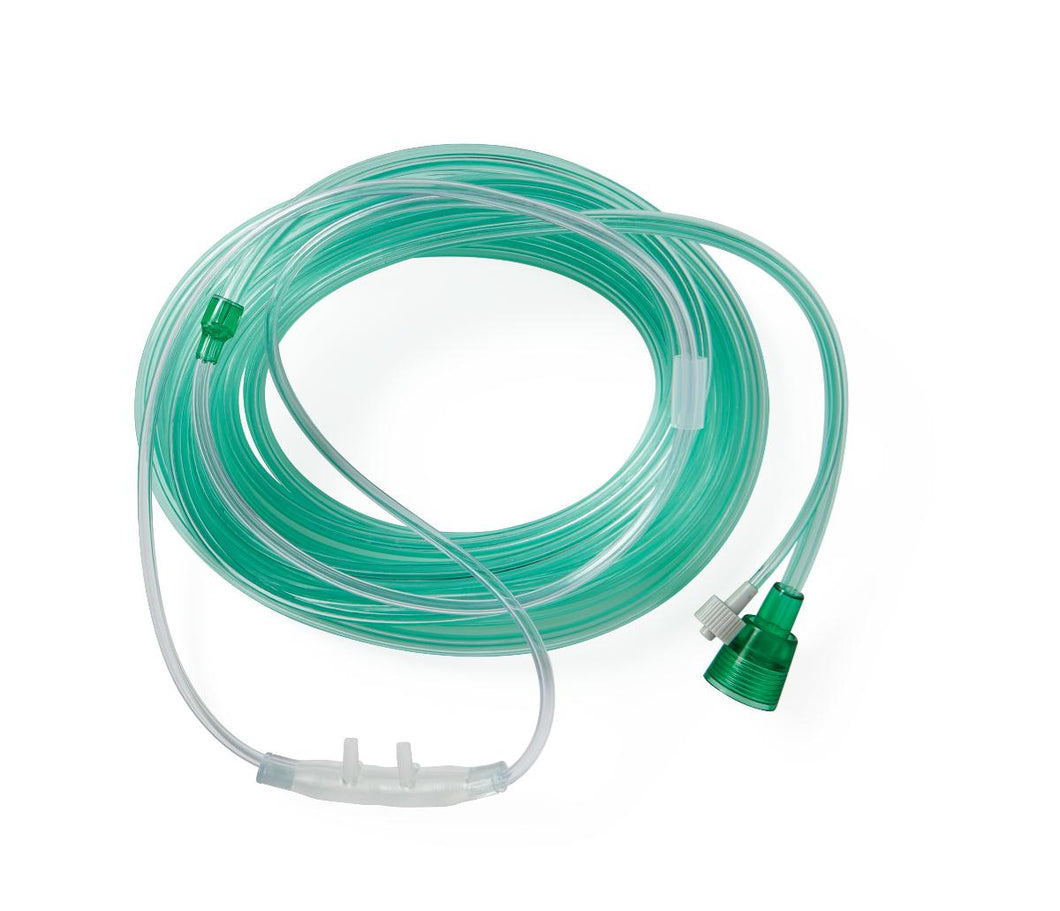 UNIVERSAL CO2 SAMPLING CANNULA, ADLT, GRN, 10'O2, 10'C
