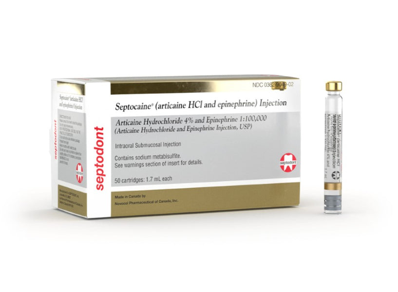 SEPTOCAINE 4% W/EPI 1:100M 50/BX GOLD 50/BX
