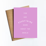 Everything Good - NOTECARD