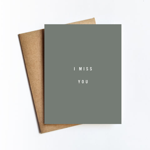 I Miss You - NOTECARD