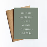 Senseless Courage - NOTECARD