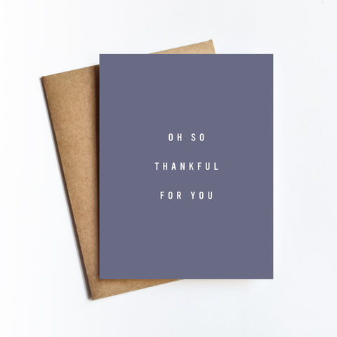 Oh So Thankful - NOTECARD