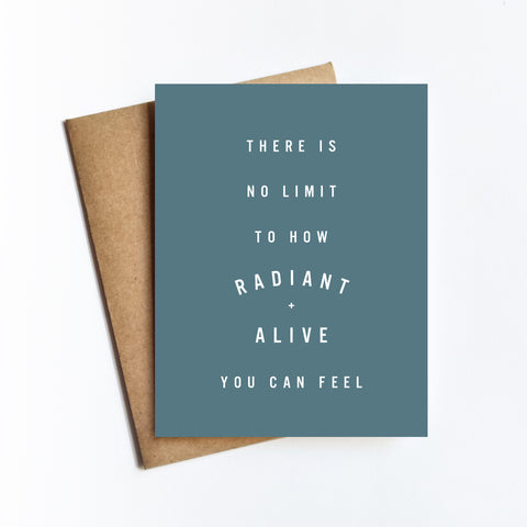 Radiant Alive - NOTECARD