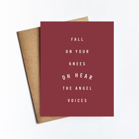 Fall On Your Knees - NOTECARD
