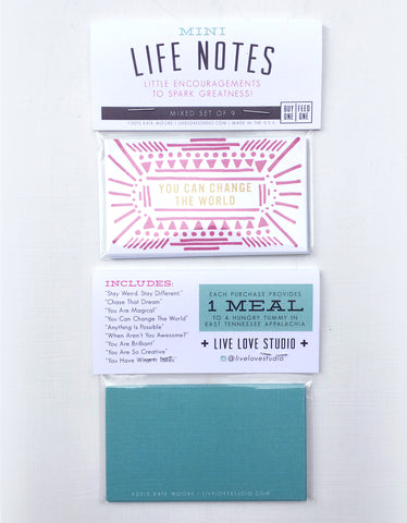 Mini LIFE Notes - Set of 9